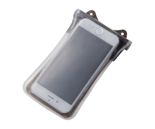 [取扱停止]スマートフォン用防水・防塵ケース(水没防止タイプ) 4.7インチ以下 ブラック P-01WPS2BK