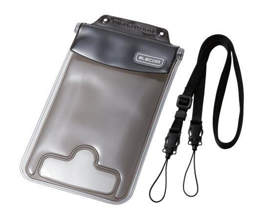 [取扱停止]スマートフォン用防水・防塵ケース(水没防止タイプ) 6.0インチ以下 ブラック P-03WPS2BK