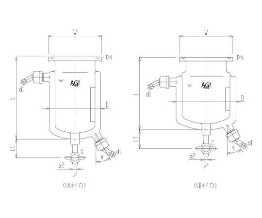 二重管式セパラ反応容器