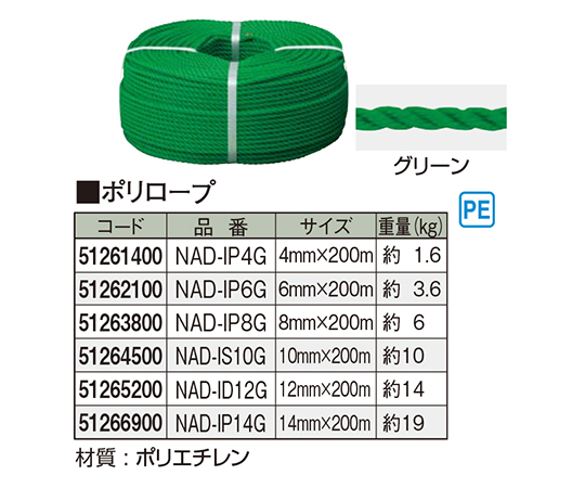 ポリロープグリーン NAD-IP6G 51262100