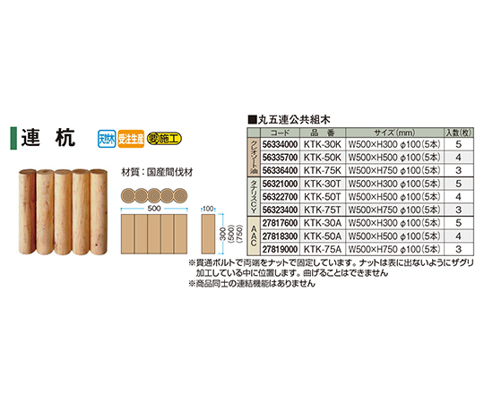 丸五連公共組木クレオソート油KTK-75K 56336400