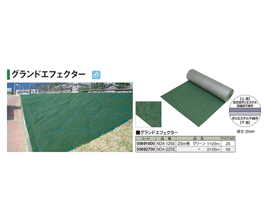 グランドエフェクター25m巻グリーン2×25mNDA-225E 50692700