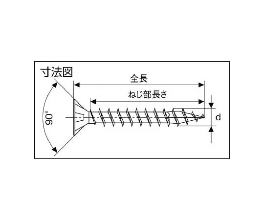 WIROX ヴァイロックス 皿ネジ 5.0×40 200本入