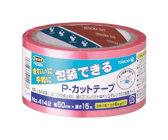 P-カットテープ NO.4142 50mm×15M ピンク