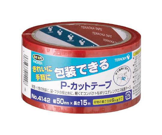 P-カットテープ NO.4142 50mm×15M 赤