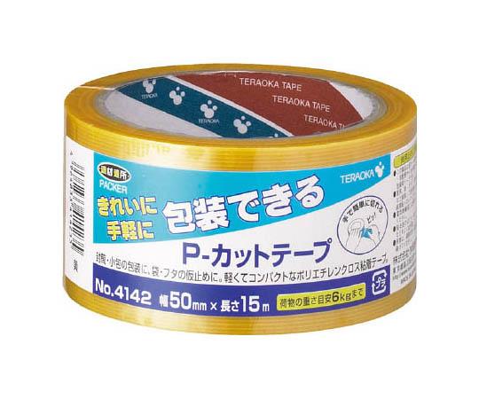 P-カットテープ NO.4142 50mm×15M 黄