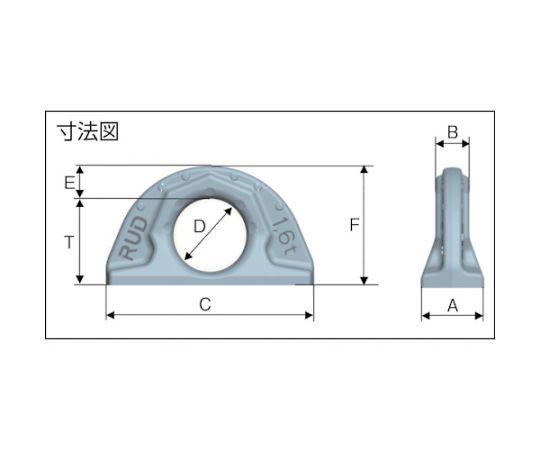 溶接式リングプレート ABA 20T