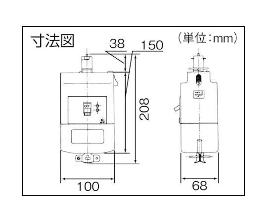漏電ブレーカ付プラグ 3P20A30mA DH24822K1
