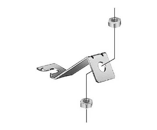 吊りボルト振れ止め金具 片側用 DLEF3