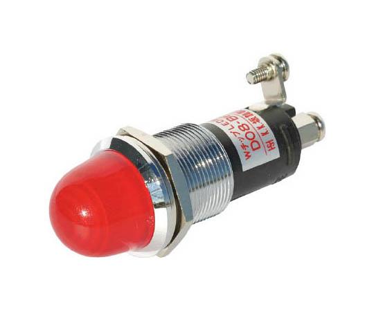ランプ交換型LED表示灯(AC/DC24V接続) 赤 Φ16 DO8B6MACDC24VRR