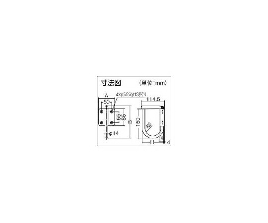 ステンレス鋼製ジャンボナス環フック(110-022-111) JNT100