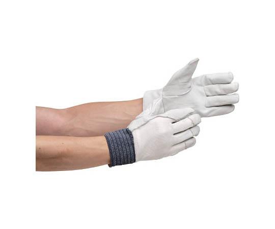 牛表革手袋 MT-14D 甲メリヤス-白