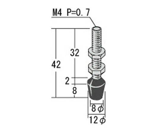 ゴム付ステンレスボルト M4X32 RBT4LSUS