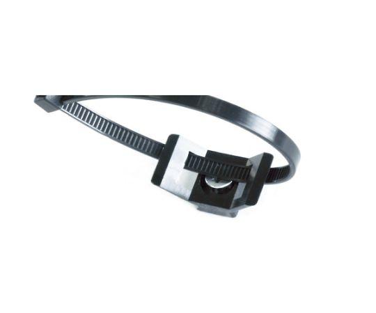 ケーブルタイ固定具 ネジ込 9mm 黒 (100個入) SUP.3.401