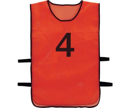 [取扱停止]番号安全ベスト 「4」 オレンジ TBB-4