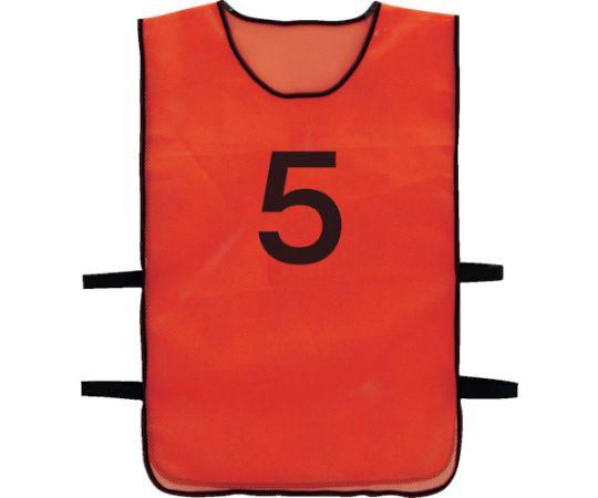 [取扱停止]番号安全ベスト 「5」 オレンジ TBB-5
