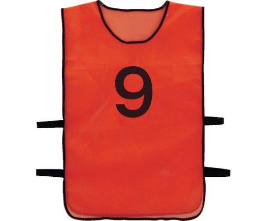 [取扱停止]番号安全ベスト 「9」 オレンジ TBB-9