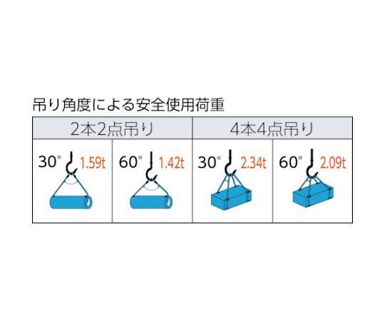 ワイヤーロープスリング Aタイプ アルミロック 10mmX2.5m TWAL-10S2.5