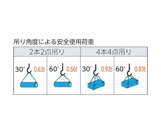 ワイヤーロープスリング Aタイプ アルミロック 6mmX4m TWAL-6S4