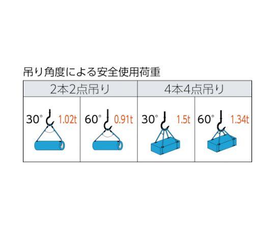 ワイヤーロープスリング Aタイプ アルミロック 8mmX2.5m TWAL-8S2.5