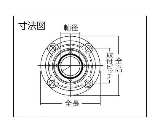 G ベアリングユニット(円筒穴形、止めねじ式)軸径60mm全長194mm全高194mm UCFCX12D1