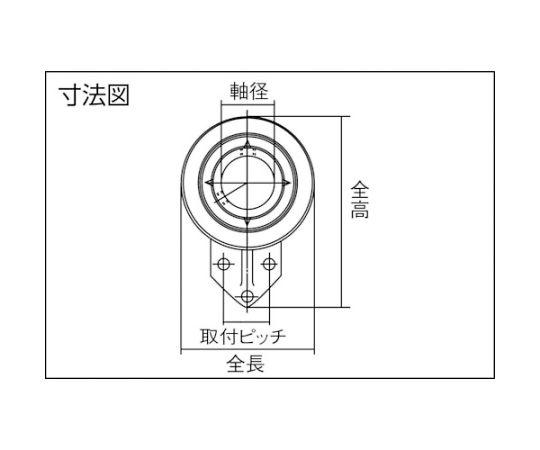 G ベアリングユニット(円筒穴形、止めねじ式)軸径40mm内輪径40mm全長100mm UCFH208D1