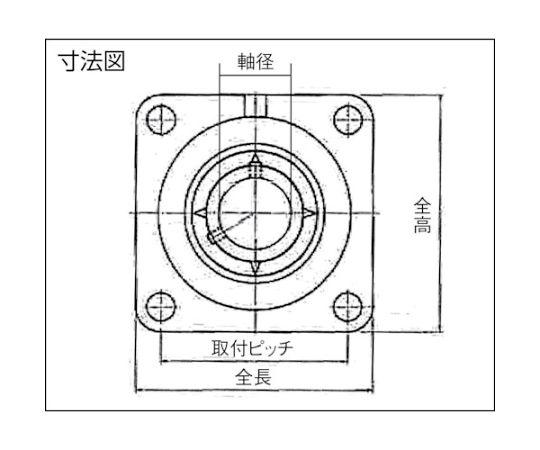軸受ユニット(円筒穴形、止めねじ式)軸径35mm内輪径35mm全長135mm UCFS307D1