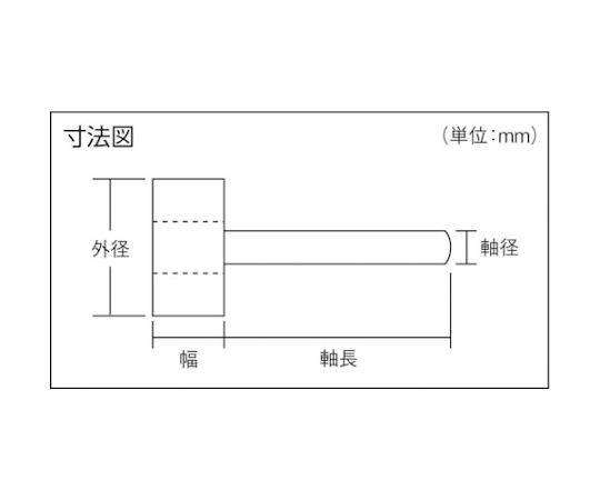 薄型フラップホイール 50X5X6 #60 5個入 UF5005-60