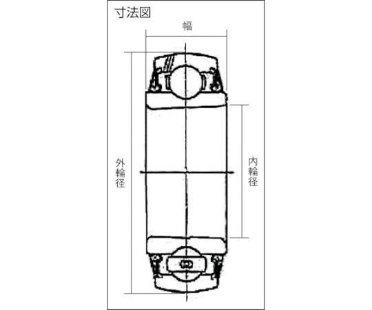 ユニット用玉軸受UK形(テーパ穴形、アダプタ式)全高95mm外輪径200mm幅67mm UK319D1