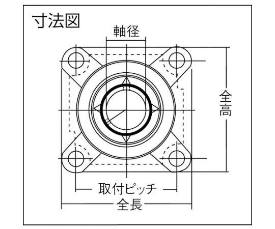 G ベアリングユニット(テーパ穴形アダプタ式)軸径30mm内輪径35mm全長117mm UKF207D1