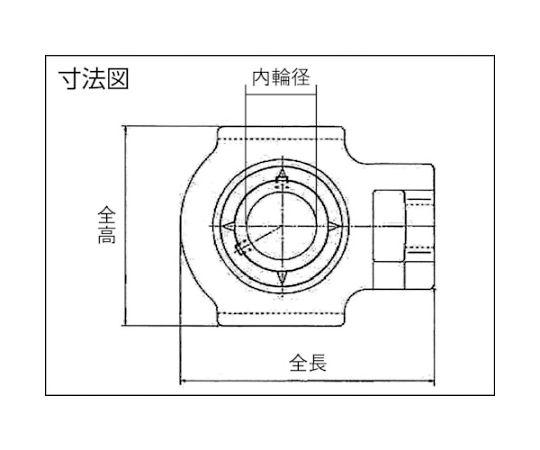 軸受ユニット(テーパ穴形、アダプタ式) 内輪径85mm全長260mm全高198mm UKT217D1