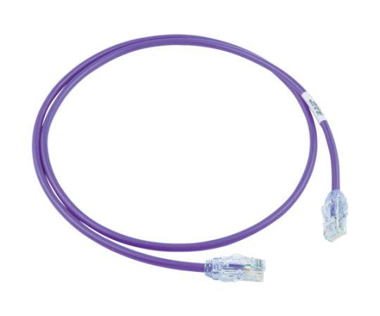 カテゴリ6A細径パッチコード 1m 紫 UTP28X1MVL