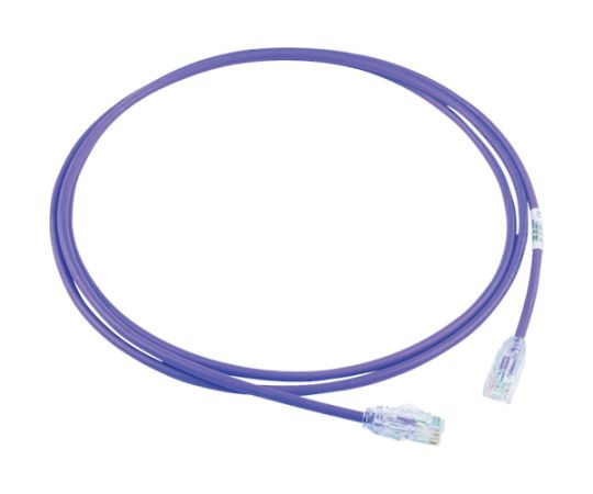 カテゴリ6A細径パッチコード 2m 紫 UTP28X2MVL