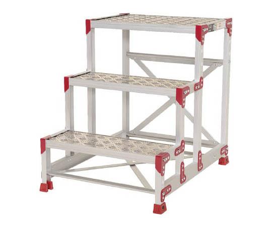 作業台 ZG-P型縞板仕様 3段 幅60cm高さ75cm