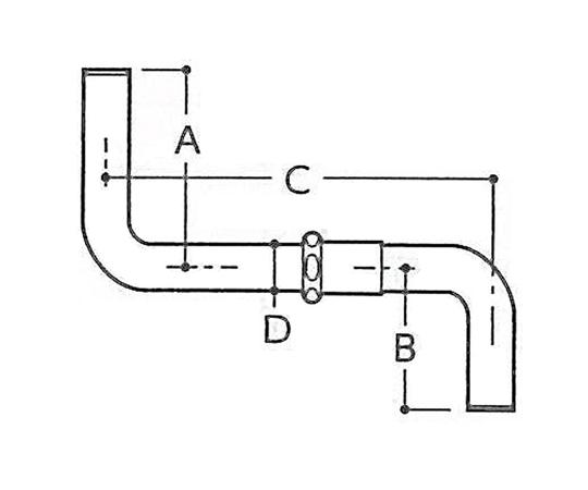 洗浄管 368x240xφ31.75mm EA472BA-25