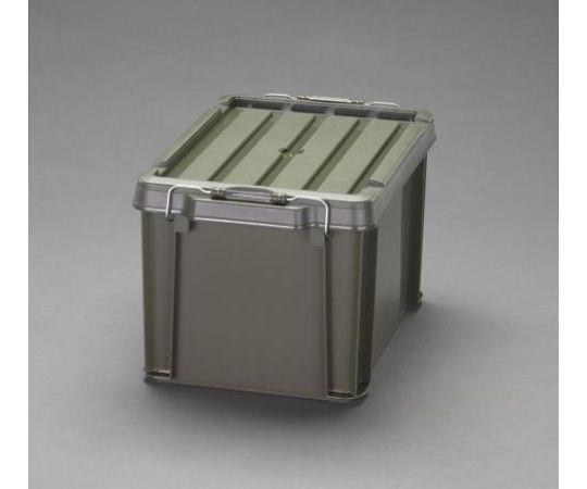 [取扱停止]収納ケース(バックル付/ODグリーン) 624x450x330mm (3個) EA506AB-147B