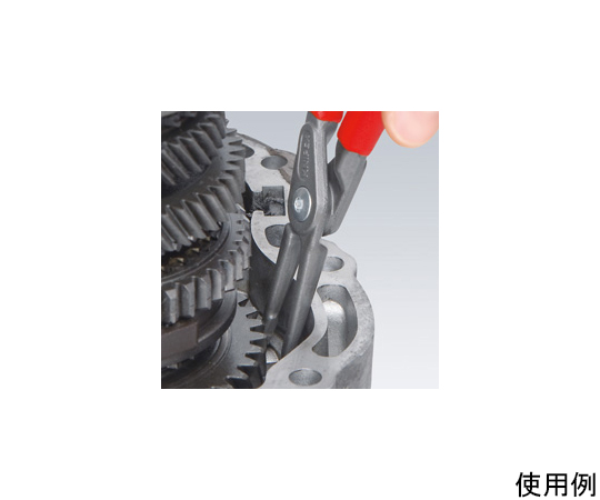 穴用スナップリングプライヤー/90°(ストッパー付 8-13mm EA590AM-0