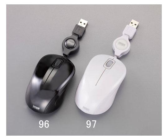 光学式マウス(巻取り/黒) 1000カウント 0.7m 等