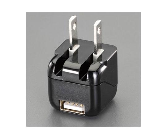 AC-USB電源変換プラグ(黒) AC100V→USB電源 EA940CD-201A