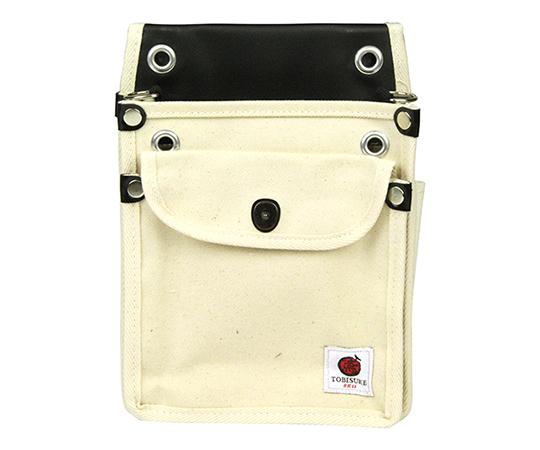 SK11 帆布鳶用腰袋2段 白ふた付き