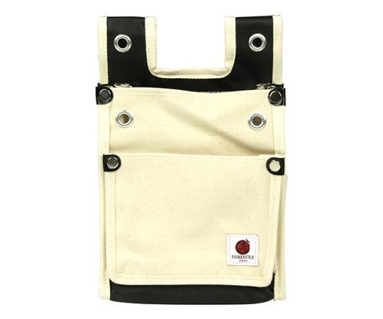 SK11 帆布鳶用腰袋2段BS 白