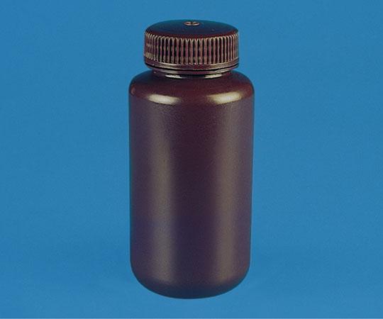 褐色広口試薬瓶 HDPE製 125mL