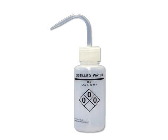 薬品識別洗浄瓶 LDPE製 250mL DistilledWater(蒸留水) 561011
