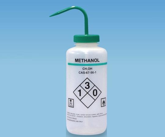 薬品識別洗浄瓶 LDPE製 1000mL Methanol(メタノール) 563014