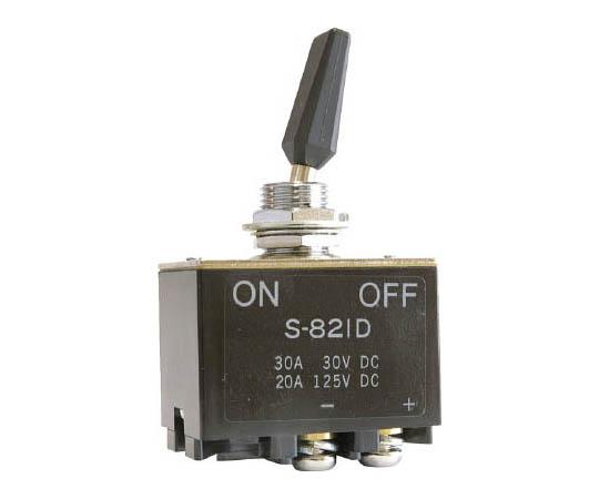 直流負荷専用トグルスイッチ(太陽光発電向け・DC400V対応) S821D