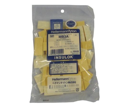 MB マウントベース(屋内用)テープ付 4.0×1.3mm 乳白 MB3A-JB 100コ