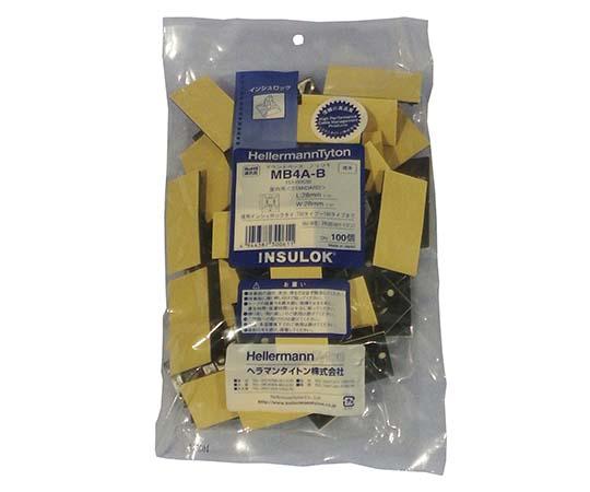 MB マウントベース(屋内用)テープ付 5.5×1.6mm 黒 MB4A-B-JB クロ 100コ