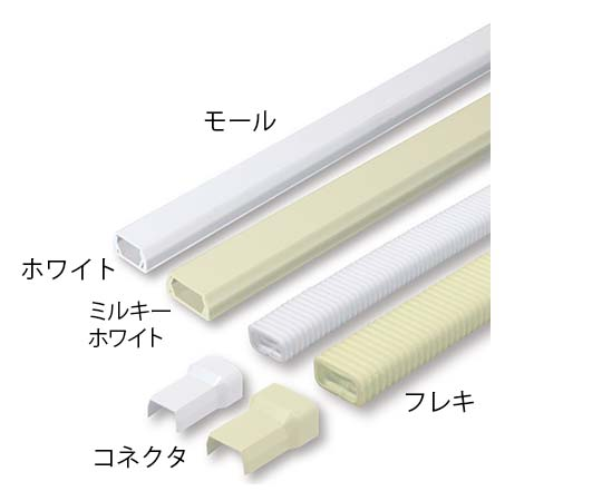 [取扱停止]モール1号 テープ付 ホワイト JMT12 ホワイト