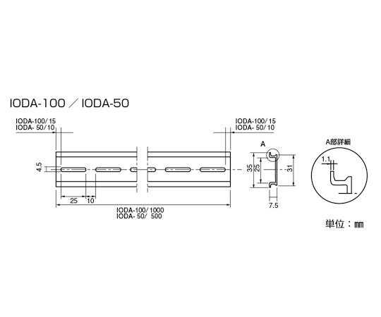 DINレール IODA-100