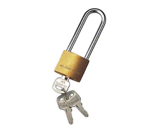 キーロック(南京錠) 6.3×70×21mm(吊部分) 真ちゅう製 195061